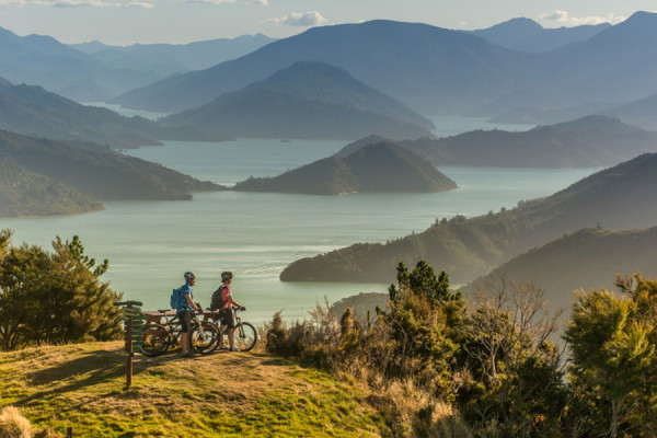 Cycling on Queen Charlotte Track